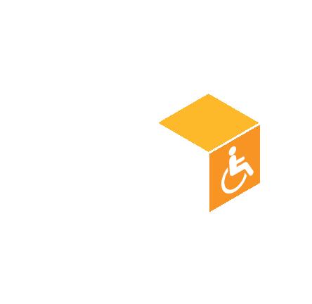 Accessible avec un coup de main ponctuel aux personnes en fauteuil roulant