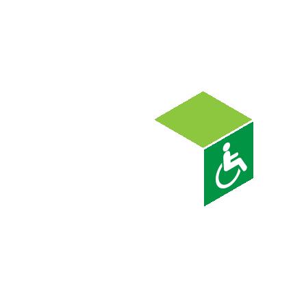 Volledig autonoom toegankelijk in een rolstoel