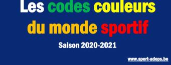 Les codes couleurs du monde sportif