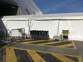 Chaises roulantes et fauteuils médicalisés à disposition du public