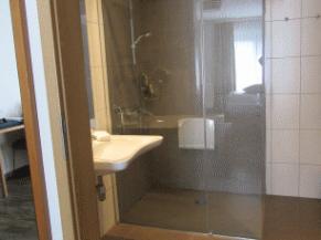 Salle de douche dans la chambre