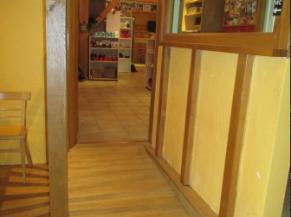 Rampe d'accès de la cafétéria