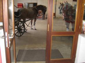 Double-porte d'accès à la salle du musée
