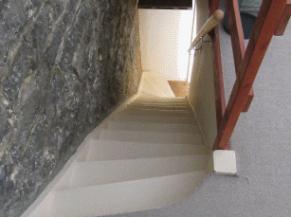 escalier  vu d'en haut