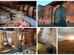 Collage des activités de la distillerie