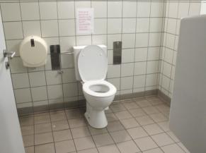 Intérieur du WC adapté (homme)