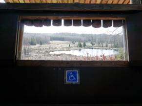 Vue  depuis la cabane d'observation