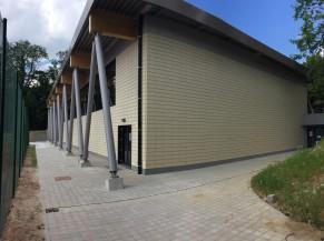 Hall sportif vue extérieure