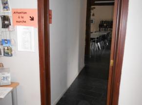 Accès vers les WC et la salle de réception