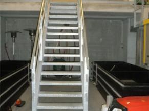 escalier intérieur de la visite