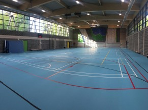 Hall sportif vue intérieure