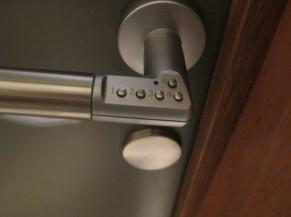 Système de fermeture des portes des 3 nouvelles chambres