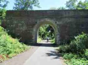 Passage du ravel sous pont