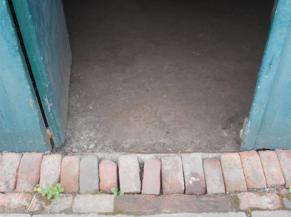 Seuil de la porte de l'ancien atelier