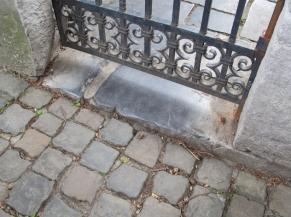 Seuil de portail d'entrée