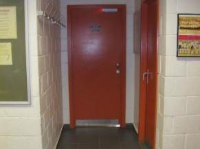 Porte vestiaire et sanitaire