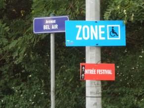 Zone de parking PMR