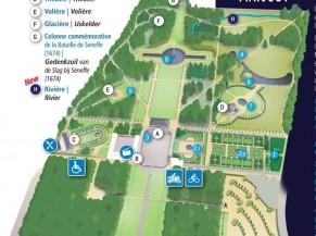 Plan du site (zones accessibles au public A & C)