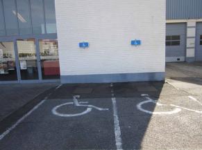 Emplacements de parking réservés aux personnes handicapées
