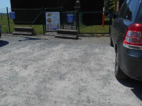 Parking réservé pour personne handicapée