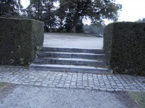 Escalier menant au point de vue arrière chäteau