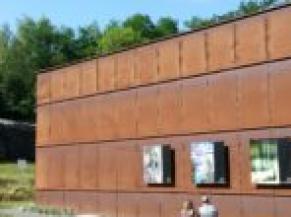 Vue du bâtiment d'accueil