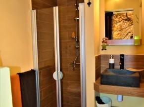 Salle de douche et WC de la chambre Forêt d'automne