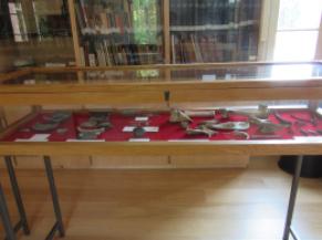 vitrine d'exposition salle des archives