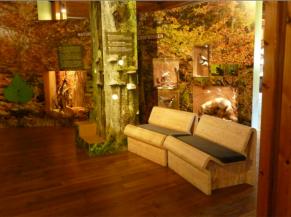 zones de repos dans l'exposition