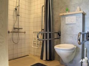 WC adapté et douche adaptée de plain-pied