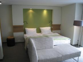 Une des chambres adaptées