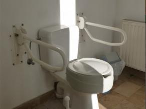 WC adapté disponible directement depuis l'intérieur du parc