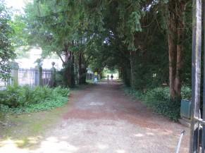 Cheminement stabilisé entre l'Orangerie et le Château