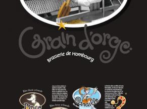 Affiche publicitaire de la brasserie