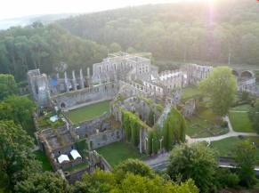 Vue aérienne du site des Ruines de l'Abbaye de Villers-la-Ville