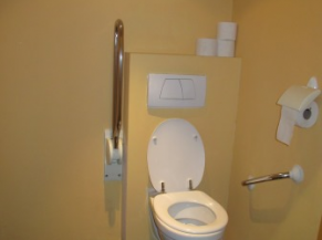 Cabine du sanitaire PMR
